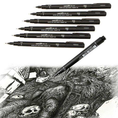 Uni Pin Drawing Pen Fine Line 005//01//02//03//05//08edle Pen
