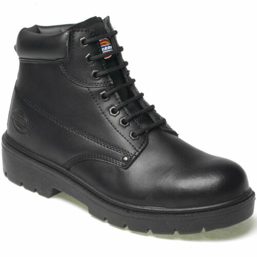 MENS DICKIES ANTRIM LEATHER S1P SAFETY BOOTS STEEL TOE CAP WORK SHOES UK SZ 6-13