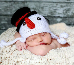 Newborn Baby Boy Girl Crochet Knit Cap Costume Photo Photography Prop Outfit Hat