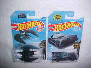 HW-HOT-WHEELS-034-BATPLANE-034-amp-034-TV-SERIES-BATMOBILE-034-VHTF-NEW-MATTEL-DIE-CAST