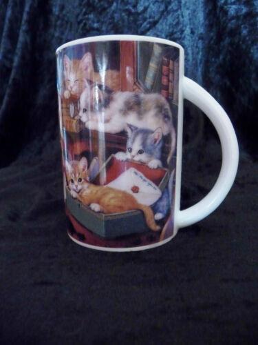 5 Stück Bradex Künstlerbecher Katzen Porzellan Handgemalt The Bradford Editions