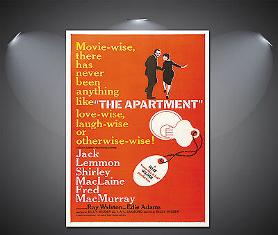 The Apartment Vintage Movie Poster - A1, A2, A3, A4 available