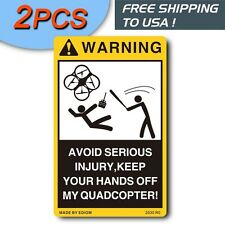 2PCS funny warning decals for RC Quadcopter Helicopter Rtf with Camera Drone X4