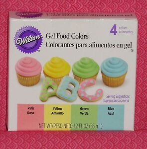 Pastel Edible Food ColoringGel Icing Color4 PackWiltonMulti