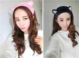 Haarband Cosplay Ohren Plüsch Katzenohren Lolita Anime Neko Haarreif Stirnband
