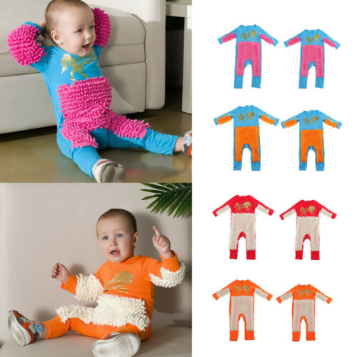 Baby Crawling Mop Suit Jumpsuit Autumn Boy Girl Romper Winter One Piece Clothes