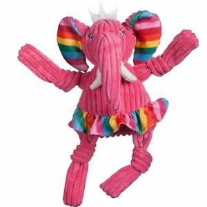 Hugglehounds RAINBOW ELEPHANT KNOTTIE Squeaker Dog Toy LARGE