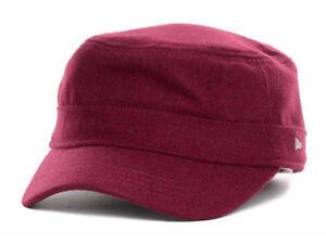 New-Era-EK-Collection-EK-Melton-Maroon-Military-Cadet-Castro-Hat-Cap-size-Large