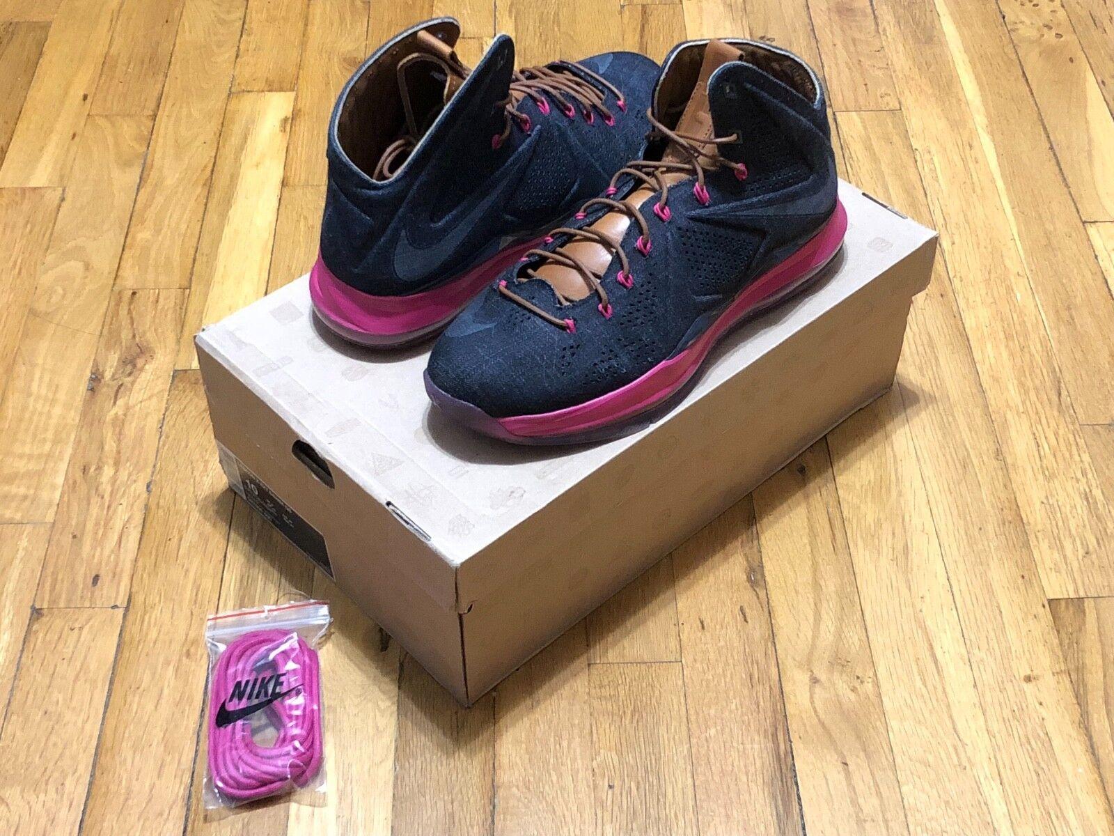 Nike LeBron x ext denim QS 597806 400 popular tamaño 10 el mas popular 400 de zapatos para hombres y mujeres cc8f4c