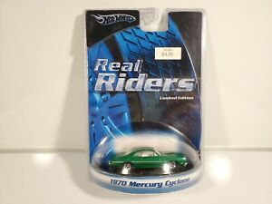 Hot-Wheels-REAL-RIDERS-1970-MERCURY-CYCLONE-Green-Kmart-Exclusive-NEW
