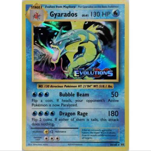 Gyarados 34//108 Pre Release Promo Holo Englisch NM//Mint