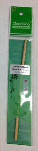 ChiaoGoo Premium Bamboo Crochet Hook Size #E 4 1022-E 3.5mm Brand New WE103079