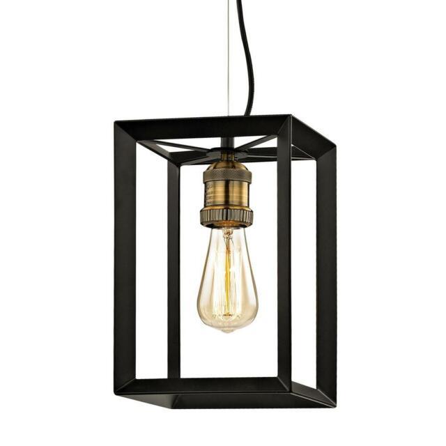 Home Decorators Collection Walden Forge 1 Light Black Frame Mini Pendant