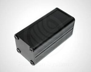 Mini-Gehaeuse-Aluminium-schwarz-50-x-25-x-25-mm-Leergehaeuse-Metall