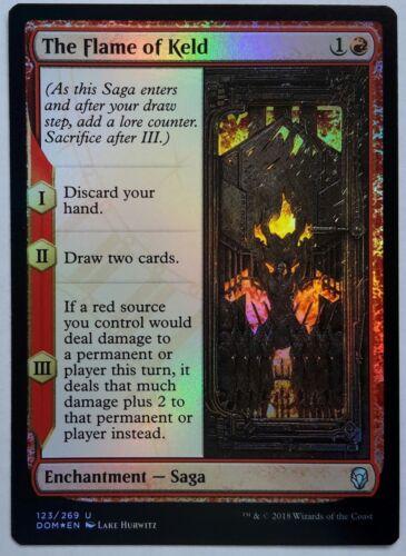 1x FOIL The Flame of Keld Near Mint Magic historic saga enchantment Dominaria x1