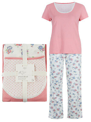 Ladies Ex M/&S Pyjama Set PJs Marks /& Spencer Warm Nightwear Lounge Xmas Gift
