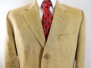 f997841616b3 Daniel Hechter 100% Linen flawless gold Jacket Blazer Made in UK 40 ...