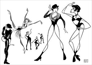 Al-Hirschfeld-039-s-FOSSE-BOB-FOSSE-Hand-Signed-Limited-Edition-Lithograph