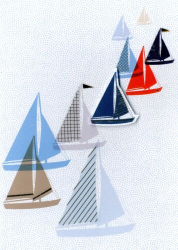 Yachts Greeting Card Blank Inside Second Nature Yours Truly Cards