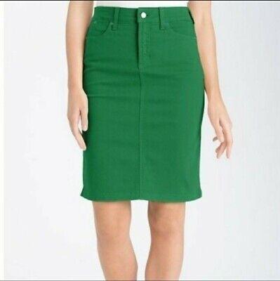 Download Nydj Green Denim Skirt 6 Petite Jean Skirt Pencil Straight   eBay