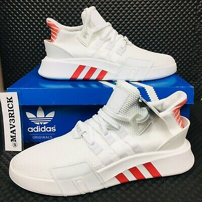 new arrival aa048 b8352 *NEW* Adidas Equipment Basket Adv (Men Sizes) Running Shoes White Red  Sneakers   eBay