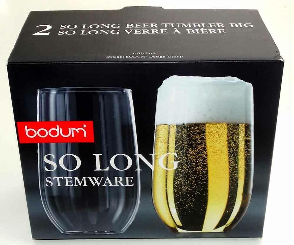 Bodum Stemware So Long Beer Tumblers 20 OZ New Unused Glasses