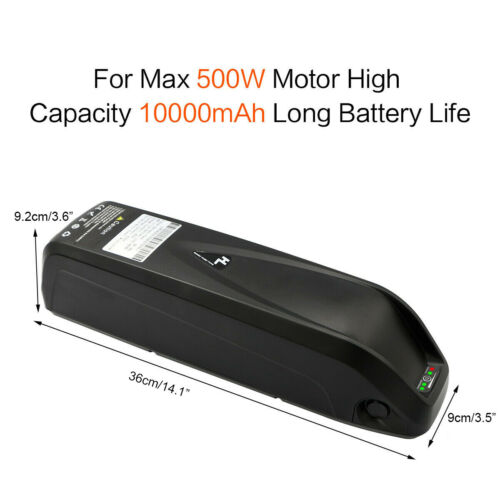 Charger fr 500W Electric Bicycle Motor 36V 10Ah HaiLong Lithium E-Bike Battery