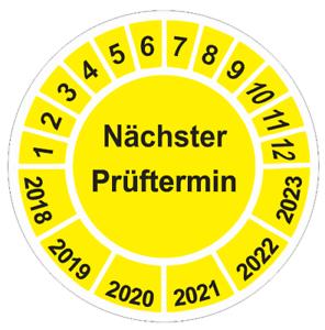 Nächster Prüftermin Gelb Prüfplaketten  UVV Wartung Stückzahl wählbar °35mm