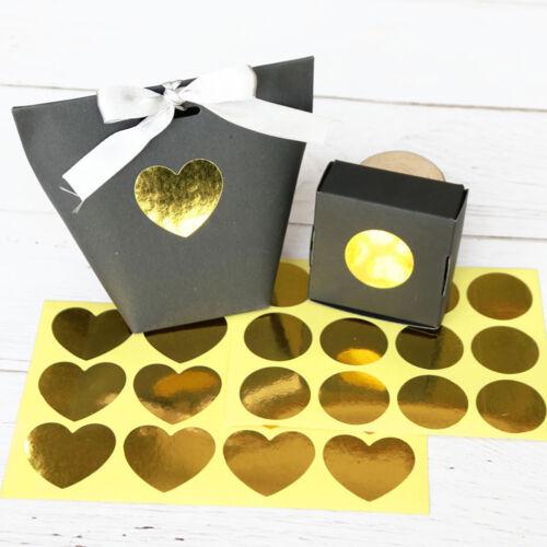 120pcs paper sticker gold round heart seal sticker diy paper label stickers SE
