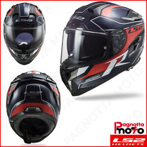 CASCO-INTEGRALE-DOPPIA-VISIERA-FULL-FACE-LS2-CHALLENGER-CARBON-FF327-C-GRID-BLUE