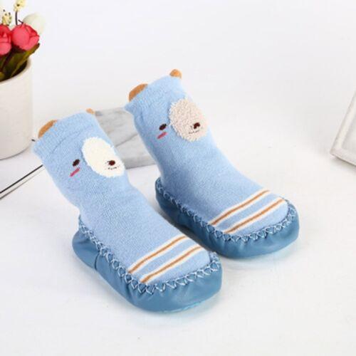 Kids Toddler Baby Girls Boys Cartoon Animal Thick Warm Anti-Slip Socks Slippers