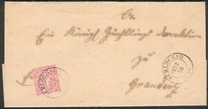 NDP-Brief-Schlochau-1870-orig-gelaufen-nach-Graudenz-Polen-RARITAT