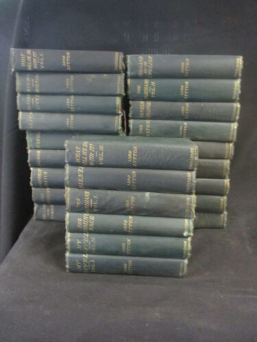 20 SELECTION OF THE KNEBWORTH EDITION HARDBACKS LORD LYTTON ROUTLEDGE + 4 VOL