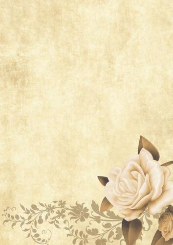 100 Blatt Motivpapier-5006 A4 Format Motiv: Blumen Briefpapier TOP