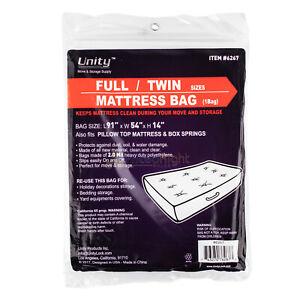 Durable Plastic Full Twin Mattress Cover Dust Water 2 Mil