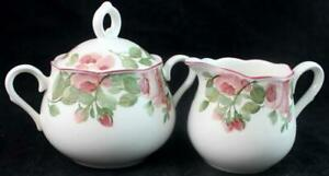 Nikko-PRECIOUS-Creamer-Sugar-Bowl-w-Lid-GREAT-CONDITION