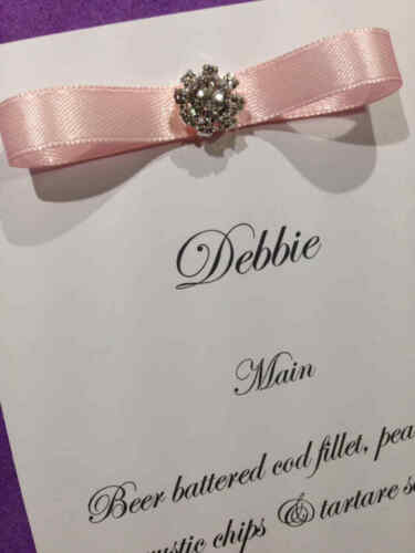 10 x Wedding Place cards Name Settings Menu /& Information Table Decoration