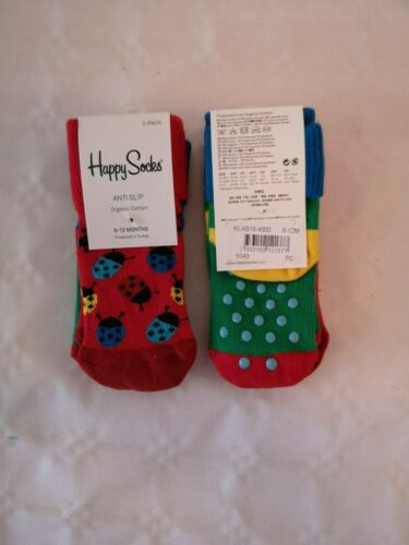 TWIN PK Quality Baby Anti Slip Socks  6-12 mths