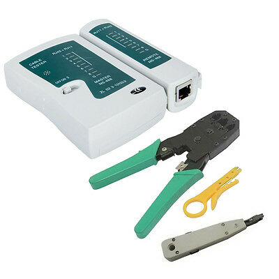 New RJ45 RJ11 CAT5 Lan Cable Crimper Tools LAN Cable Tester Punch Network Tool