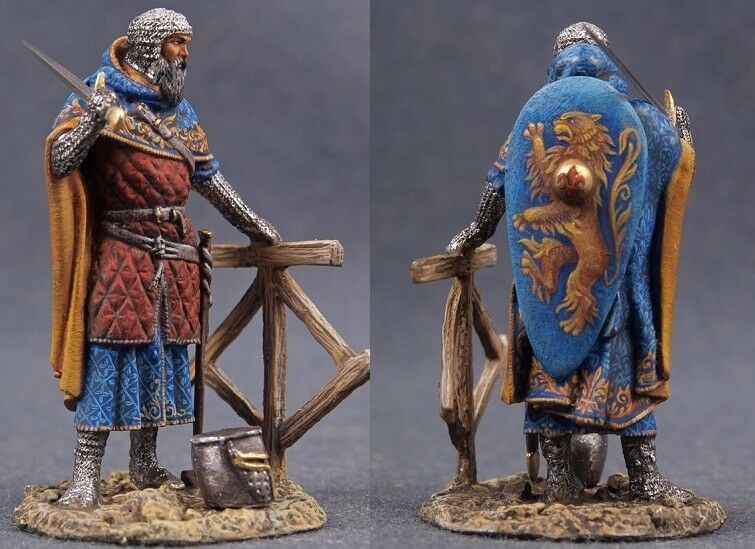 Tin Tin Tin toy soldiers ELITE painted 54 mm  The wandering Knight-monk, XIII century. 8e2bdd