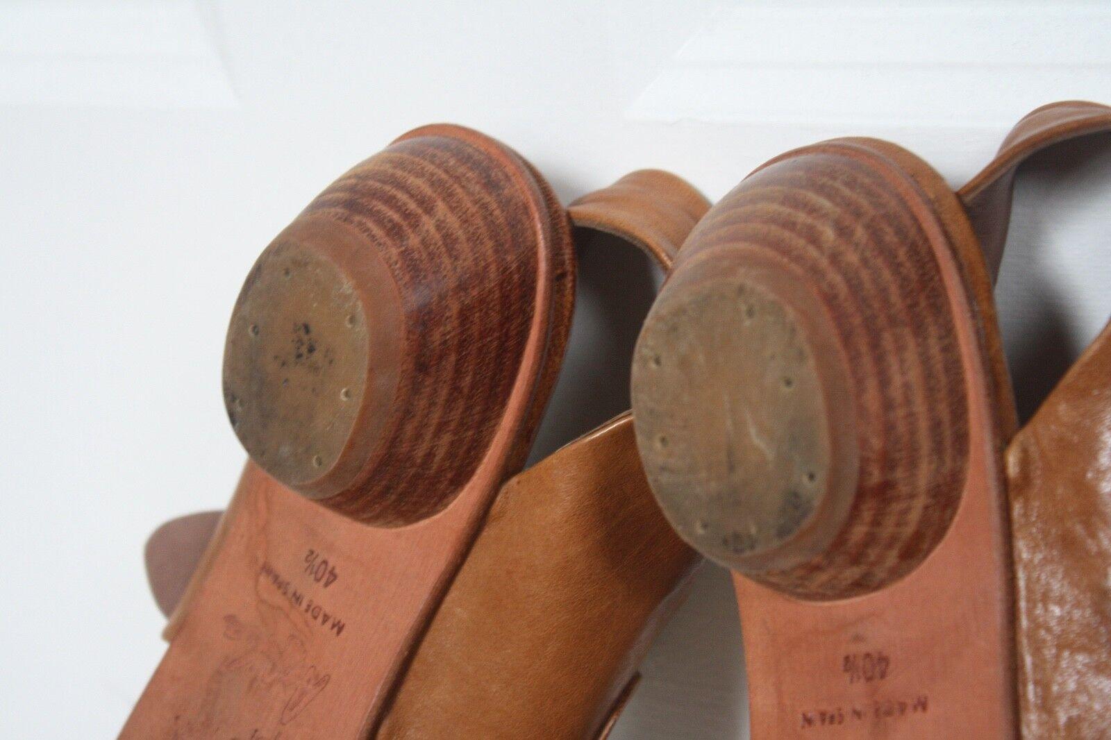 Gelati by Argila - Pepe Monjo 40.5 10.5 Braun Leder Buckle Schuhes Sandaleen