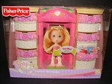 NEW Snap 'N Style Fashion Wardrobe Fisher-Price Doll Dressing Room Carry Case