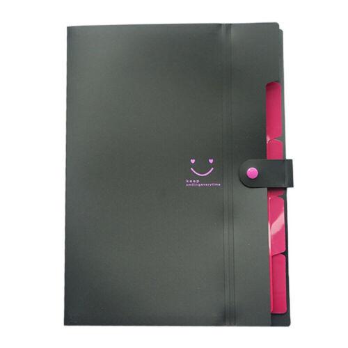 A4 File Document Bag Pouch Bill Folder Holder Organizer Books Fastener Office