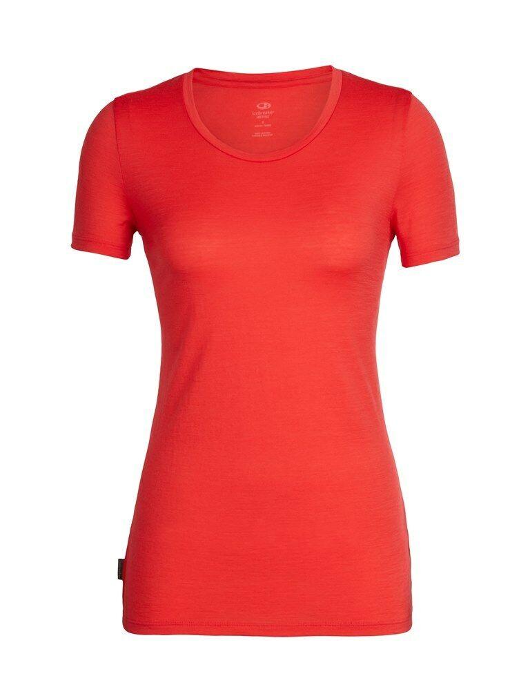Icebreaker Tech Lite Short Sleeve Low Crewe daSie T-Shirt Kurzarm Merino ember