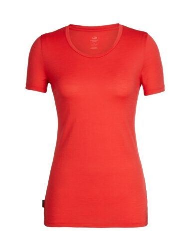 Icebreaker Tech Lite Short Sleeve Low Crewe Women T-Shirt Kurzarm Merino ember