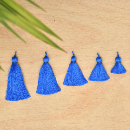 DIY Craft Supplies Handmade Jewelry Tassels Xsotica® Silk Tassel Royal Blue