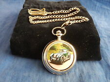 MORGAN CAR CHROME POCKET WATCH WITH CHAIN (NEW) (2)