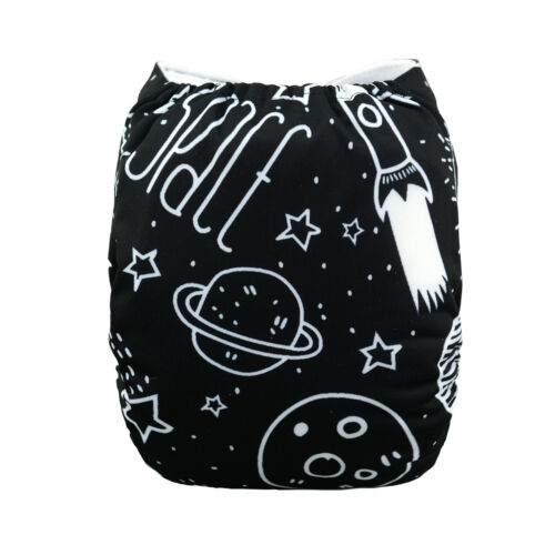 ALVABABY Cloth Diaper One Size Reusable Washable Pocket Nappy 1 Insert