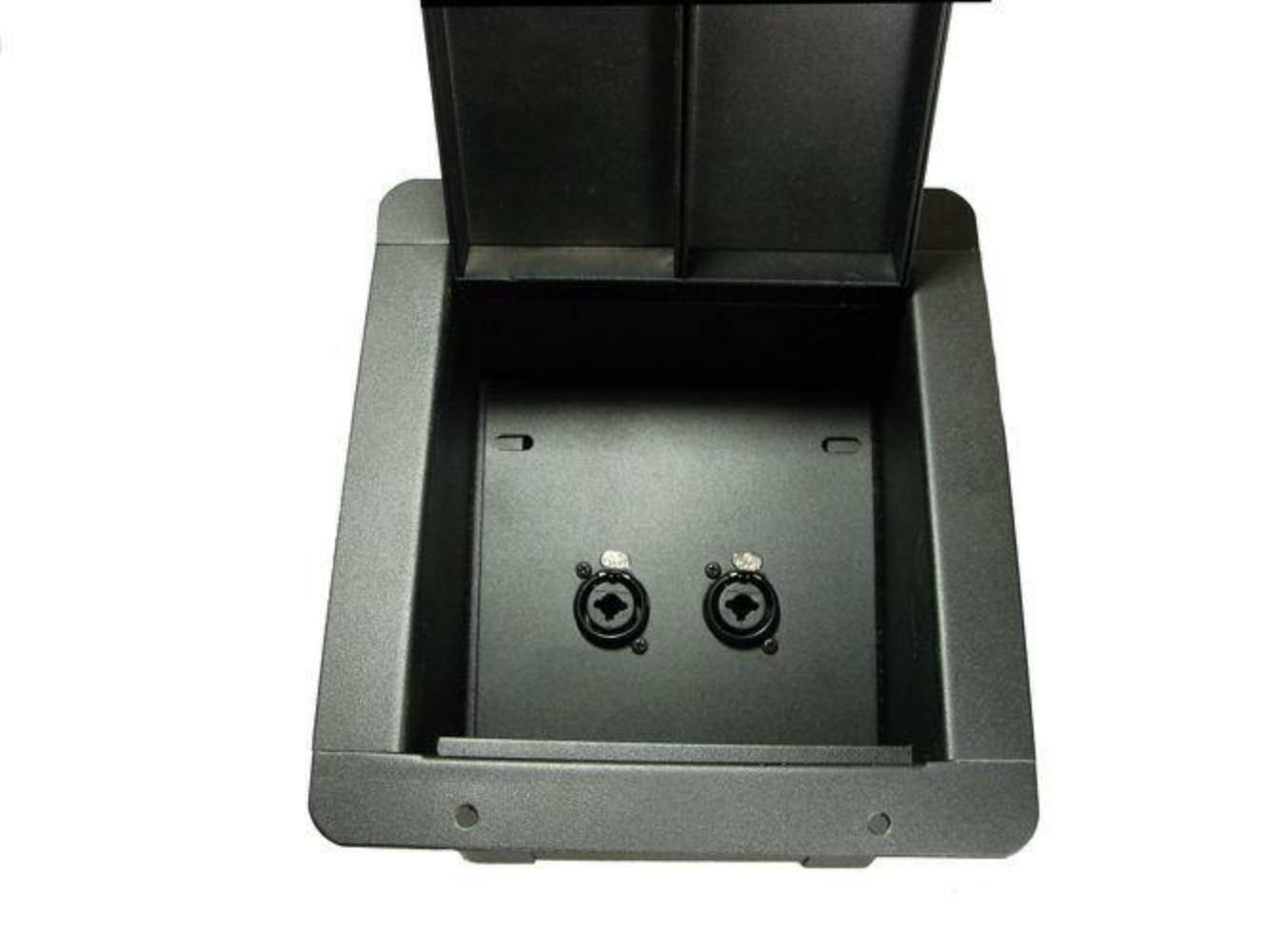 Recessed Floor Pocket Stage Box Loaded w  2 NCJ6FI-S Neutrik combo 1 4   XLR