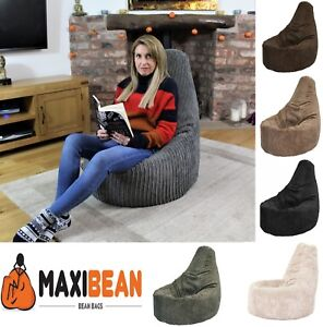 Pleasing Details About Large Jumbo Cord Bean Bag Chair Gamer Beanbag Adult Gaming Pod Big Arm Cordrouy Machost Co Dining Chair Design Ideas Machostcouk